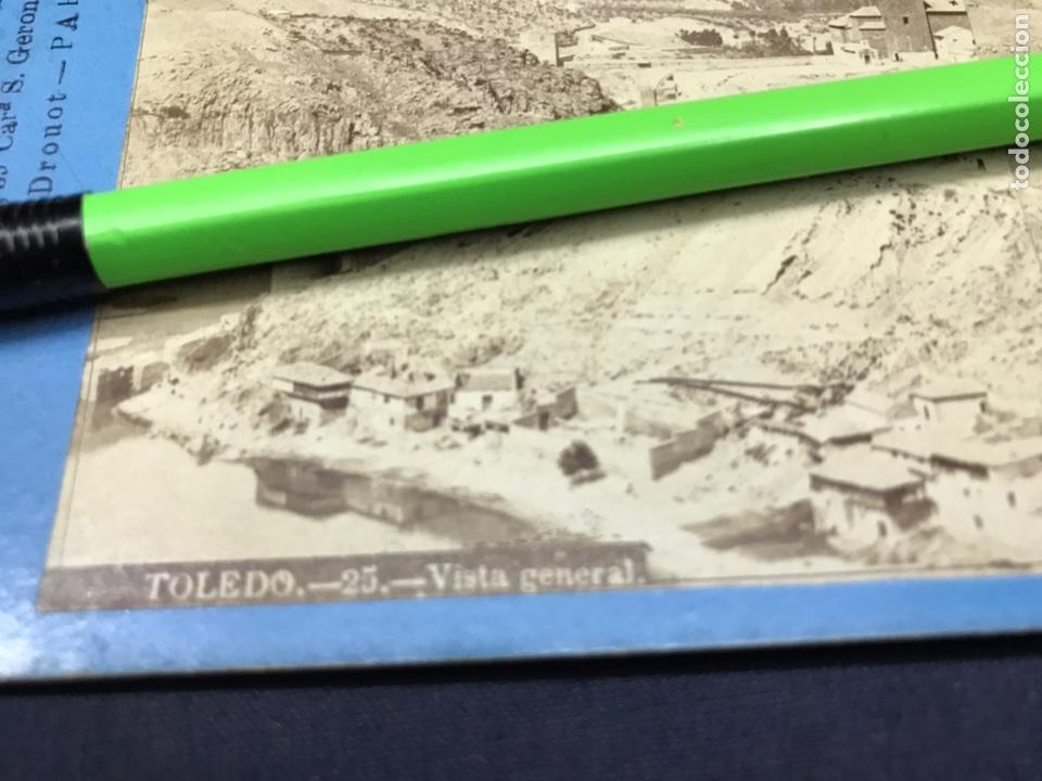 Fotografía antigua: TOLEDO. VISTA GENERAL. LAURENT VISTA ESTEREOSCÓPICA, ALBUMINAS. BUEN ESTADO. 25 - Foto 2 - 148195970