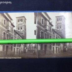 Fotografía antigua: TOLEDO. TORRE DE SANTO TOMÉ. LAURENT VISTA ESTEREOSCÓPICA, ALBUMINAS. BUEN ESTADO. Nº 11. Lote 148196362
