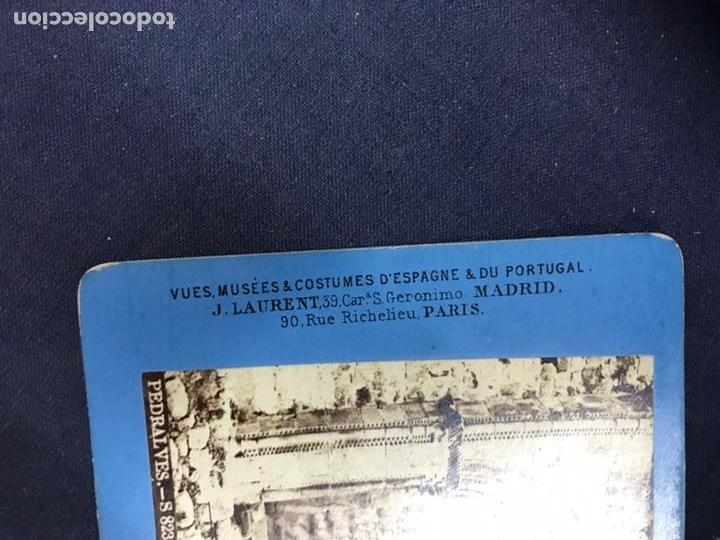 Fotografía antigua: PEDRALBES. PUERTA DEL MONASTERIO LAURENT VISTA ESTEREOSCÓPICA, ALBUMINAS. BUEN ESTADO. Nº 823 - Foto 3 - 148204446