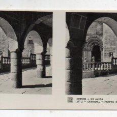 Fotografía antigua: ORENSE. CATEDRAL. PUERTA DEL RELOJ.. Lote 148609586