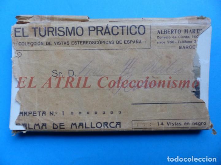 PALMA DE MALLORCA 14 VISTAS ESTEREOSCOPICAS EL TURISMO PRACTICO AÑOS 1920-30 VER FOTOS ADICIONALES (Fotografía Antigua - Estereoscópicas)