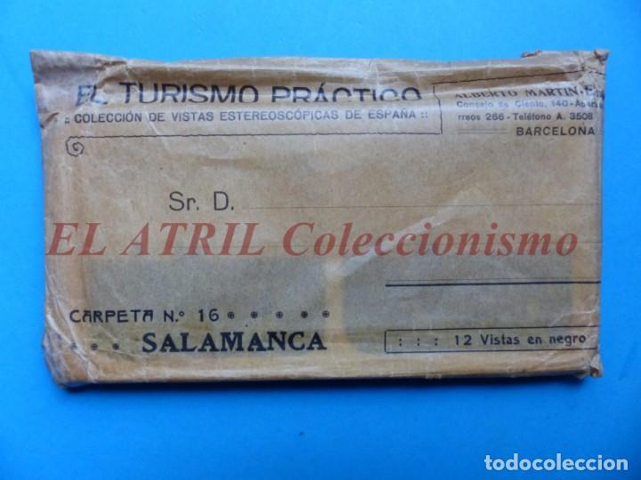 SALAMANCA - 12 VISTAS ESTEREOSCOPICAS EL TURISMO PRACTICO - AÑOS 1920-30 - VER FOTOS ADICIONALES (Fotografía Antigua - Estereoscópicas)