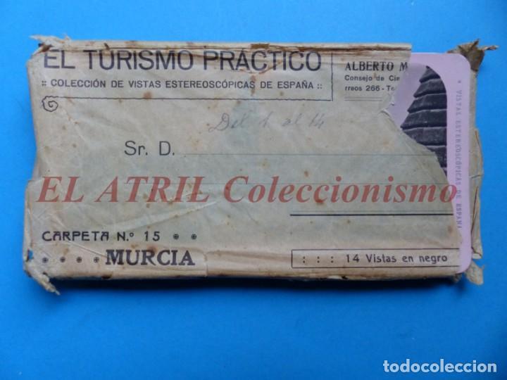 MURCIA - 14 VISTAS ESTEREOSCOPICAS EL TURISMO PRACTICO - AÑOS 1920-30 - VER FOTOS ADICIONALES (Fotografía Antigua - Estereoscópicas)