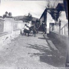 Fotografía antigua: PLACA ESTEREOSCÓPICA ORIGINAL EN NEGATIVO PUEBLO DE GRANADA O ALMERÍA AÑO 1900. Lote 151148384