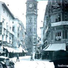 Fotografía antigua: FOTOGRAFIA ESTEREOSCOPICA DE CRISTAL DE VALENCIA, CON LA TORRE DE LA IGLESIA DE SANTA CATALINA, AÑOS. Lote 151149370
