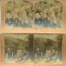 Fotografía antigua: GUERRA DE FILIPINAS. HACIA 1899-1900. LOTE DE TRES EXCELENTES FOTOS.. Lote 152037670