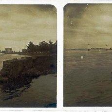 Fotografía antigua: BADAJOZ. GUADIANA DESBORDADO. POSITIVO SOBRE CRISTAL. AÑOS 30-40. IMAGEN DE GRAN BELLEZA. Lote 152183566
