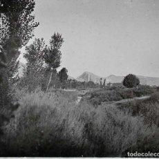 Fotografía antigua: FOTOGRAFIA ESTEREOSCOPICA EN CRISTAL DE PUEBLO NO LOCALIZADO, POSIBLEMENTE CASTILLA LEON, AVILA, SAL. Lote 152423722