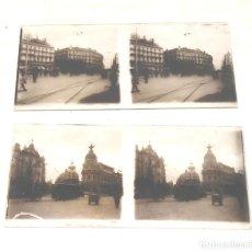 Fotografía antigua: 2 FOTOGRAFIAS CRISTAL ESTEREOSCOPICA MADRID ALCALÁ GRAN VIA Y PUERTA DEL SOL AÑOS 30. MED. 13 X 6 CM. Lote 152488894