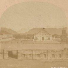 Fotografía antigua: FOTOGRAFÍA ESTEREOSCÓPICA DE FILIPINAS - PLAZA DE VIGAN - ILOCOS SUR - HACIA 1860. Lote 152496042
