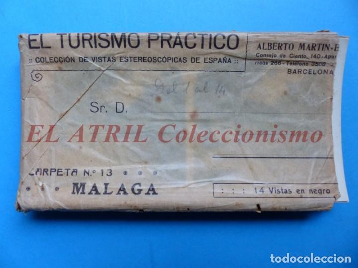 MALAGA - 14 VISTAS ESTEREOSCOPICAS EL TURISMO PRACTICO - AÑOS 1920-30 - VER FOTOS ADICIONALES (Fotografía Antigua - Estereoscópicas)