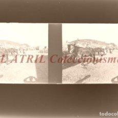 Fotografía antigua: BURJASOT, VALENCIA Ó CUEVA SANTA - NEGATIVO EN CRISTAL ESTEREOSCOPICO - AÑOS 1920. Lote 153691662