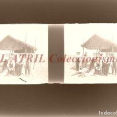 Fotografía antigua: BURJASOT, VALENCIA Ó CUEVA SANTA - NEGATIVO EN CRISTAL ESTEREOSCOPICO - AÑOS 1920. Lote 153691734