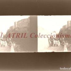 Fotografía antigua: BURJASOT, VALENCIA Ó CUEVA SANTA - NEGATIVO EN CRISTAL ESTEREOSCOPICO - AÑOS 1920. Lote 153699078