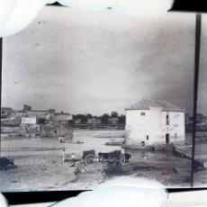 Fotografía antigua: PLACA ESTEREOSCÓPICA EN NEGATIVO SUR DE ESPAÑA AÑO 1900. Lote 153884282