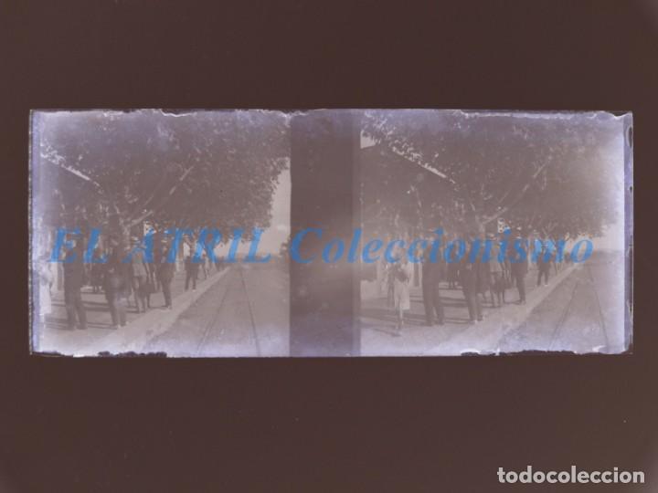 VALENCIA O PROVINCIA - ESTACION DEL TREN - NEGATIVO EN CRISTAL ESTEREOSCOPICO - AÑOS 1920-30 (Fotografía Antigua - Estereoscópicas)