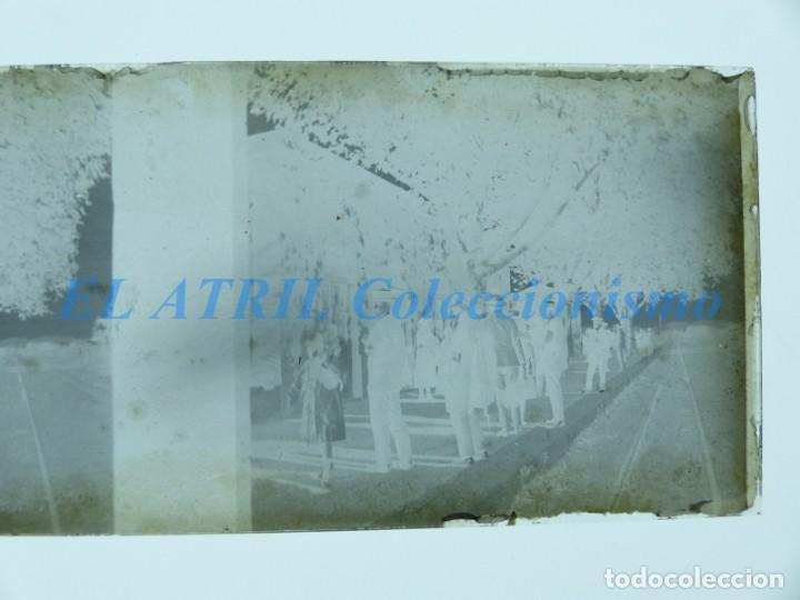 Fotografía antigua: VALENCIA O PROVINCIA - ESTACION DEL TREN - NEGATIVO EN CRISTAL ESTEREOSCOPICO - AÑOS 1920-30 - Foto 4 - 154065410