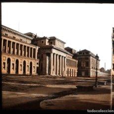 Fotografía antigua: MADRID. MUSEO DEL PRADO, CRISTAL POSITIVO ESTEREO ILUMINADO A MANO. 1857-65 APROX.. Lote 154691702