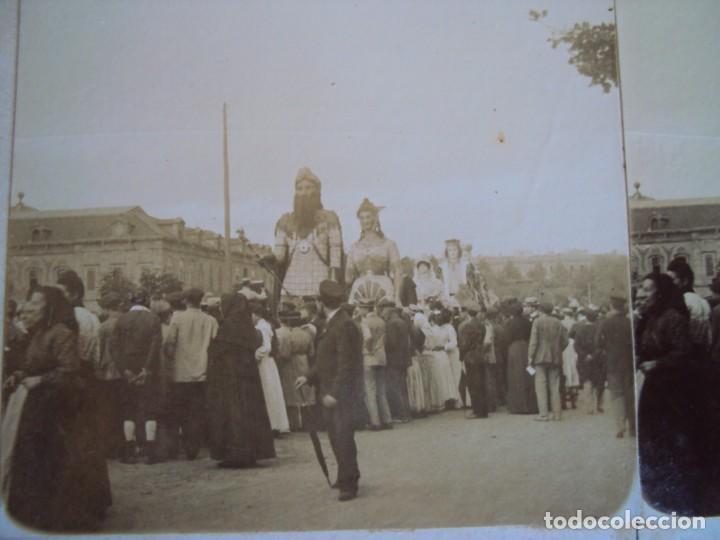 (ES-190330)FOTOGRAFIA ESTEREOSCOPICA DE BARCELONA-FESTAS DE LA MERCE 1902.GEGANTS.J.MIQUEL (Fotografía Antigua - Estereoscópicas)