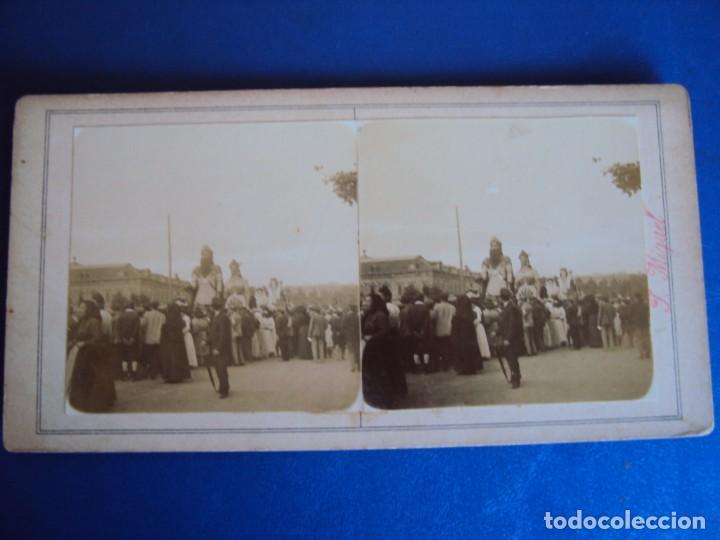 Fotografía antigua: (ES-190330)FOTOGRAFIA ESTEREOSCOPICA DE BARCELONA-FESTAS DE LA MERCE 1902.GEGANTS.J.MIQUEL - Foto 2 - 155285590