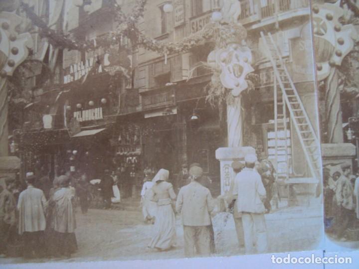 (ES-190313)FOTOGRAFIA ESTEREOSCOPICA DE BARCELONA-.CALLE HOSPITAL.J.MIQUEL (Fotografía Antigua - Estereoscópicas)