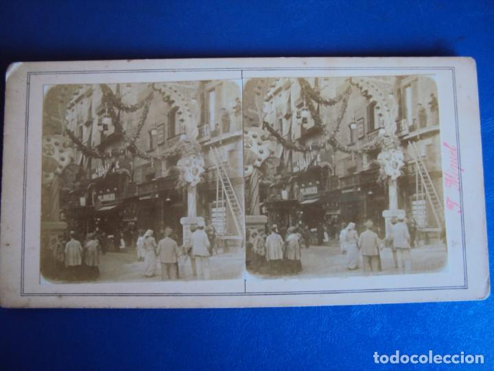 Fotografía antigua: (ES-190313)FOTOGRAFIA ESTEREOSCOPICA DE BARCELONA-.CALLE HOSPITAL.J.MIQUEL - Foto 2 - 155328394