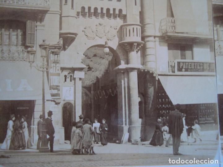 (ES-190310)FOTOGRAFIA ESTEREOSCOPICA DE BARCELONA-.CALLE CONDAL.J.MIQUEL (Fotografía Antigua - Estereoscópicas)