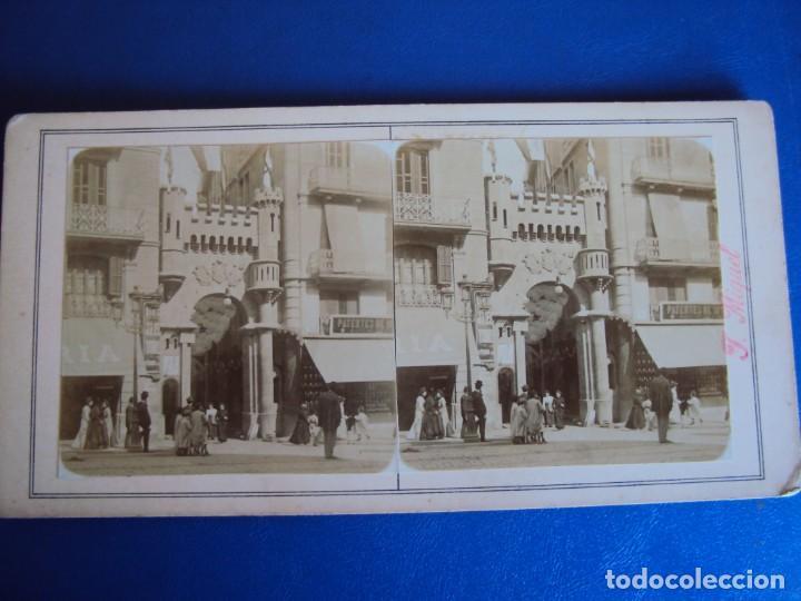 Fotografía antigua: (ES-190310)FOTOGRAFIA ESTEREOSCOPICA DE BARCELONA-.CALLE CONDAL.J.MIQUEL - Foto 2 - 155328566