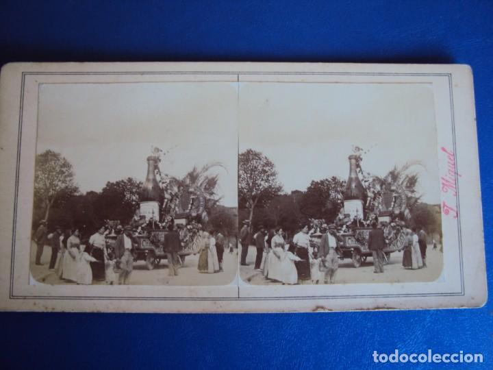 Fotografía antigua: (ES-190308)FOTOGRAFIA ESTEREOSCOPICA DE BARCELONA-CABALGATA.J.MIQUEL - Foto 2 - 155328726