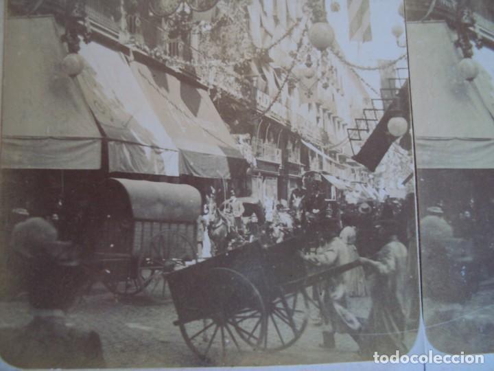 (ES-190307)FOTOGRAFIA ESTEREOSCOPICA DE BARCELONA-CALLE FERNANDO.J.MIQUEL (Fotografía Antigua - Estereoscópicas)