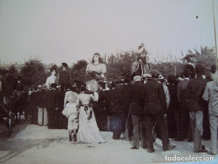 (ES-190306)FOTOGRAFIA ESTEREOSCOPICA DE BARCELONA-FESTAS DE LA MERCE 1902.GEGANTS DE VALLS.R.MIQUEL (Fotografía Antigua - Estereoscópicas)