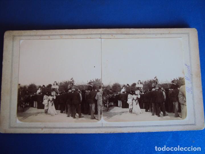Fotografía antigua: (ES-190306)FOTOGRAFIA ESTEREOSCOPICA DE BARCELONA-FESTAS DE LA MERCE 1902.GEGANTS DE VALLS.R.MIQUEL - Foto 2 - 155328882