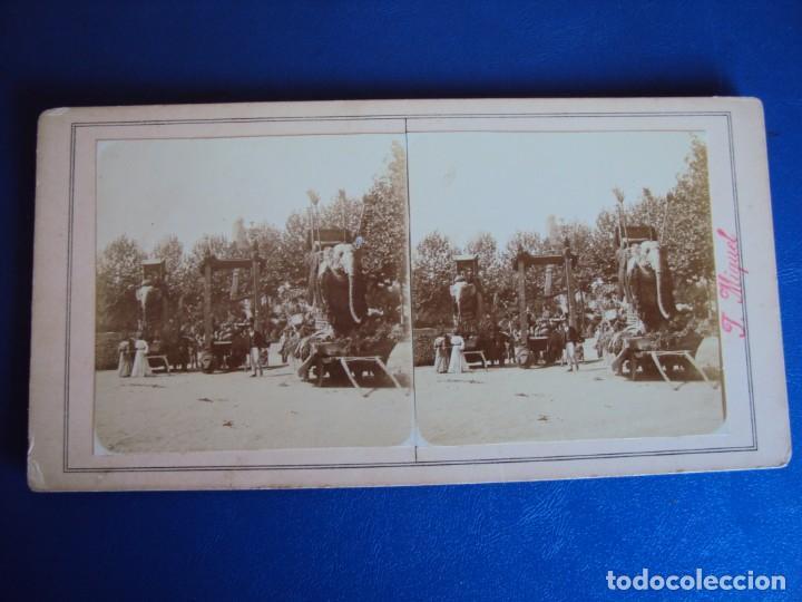 Fotografía antigua: (ES-190302)FOTOGRAFIA ESTEREOSCOPICA DE BARCELONA-CABALGATA.J.MIQUEL - Foto 2 - 155329306