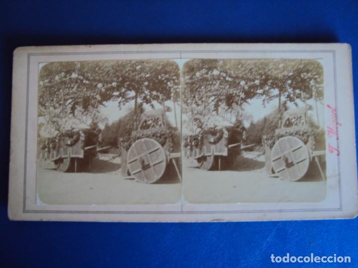 Fotografía antigua: (ES-190301)FOTOGRAFIA ESTEREOSCOPICA DE BARCELONA-CABALGATA.J.MIQUEL - Foto 2 - 155329342