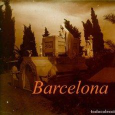 Fotografía antigua: CEMENTERIO - BARCELONA - MODERNISMO - POSITIVO DE VIDRIO - 1910'S . Lote 155718234