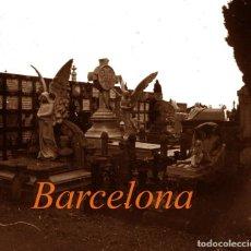 Fotografía antigua: CEMENTERIO - BARCELONA - MODERNISMO - POSITIVO DE VIDRIO - 1910'S . Lote 155718454
