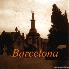 Fotografía antigua: CEMENTERIO - BARCELONA - MODERNISMO - POSITIVO DE VIDRIO - 1910'S . Lote 155718474