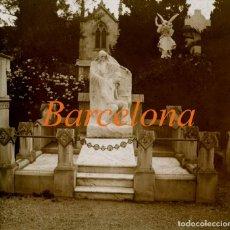 Fotografía antigua: CEMENTERIO - BARCELONA - MODERNISMO - POSITIVO DE VIDRIO - 1910'S . Lote 155718502