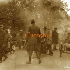 Fotografía antigua: CARRERAS - MOTOCICLISMO - MADRID - 1920'S - NEGATIVO DE CELULOIDE . Lote 155762046