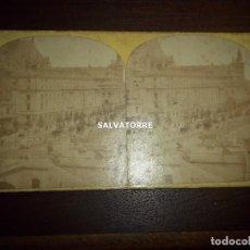 Fotografía antigua: FOTOGRAFIA ESTEREOSCOPICA. PALACIO JUSTICIA PARIS.H.GUERARD.FRANCIA.FRANCE. Lote 156137114