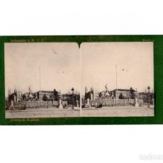 Old photograph - DOBLE ESTEREOSCÓPICA.- (VER FOTOS). MADRID.- FUENTE DE NEPTUNO. FOTOTIPIA. LAURENT. - 156772410