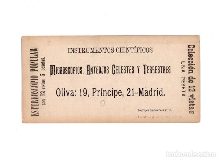 Fotografía antigua: ESTEREOSCÓPICA.- MADRID.- FUENTE DE LA ALCACHOFA. FOTOTIPIA. LAURENT. - Foto 2 - 156773430