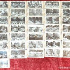 Fotografía antigua: COLECCIÓN MONTSERRAT. SAN HILARIO. 36 FOTOGRAFÍAS ESTEREOSCÓPICAS. CIRCA 1920. . Lote 156949330