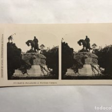 Fotografía antigua: MADRID. COLECCIÓN DE VISTAS ESTEREOSCOPÍCAS DE ESPAÑA. MONUMENTO A MARTINEZ CAMPOS. Lote 157011096