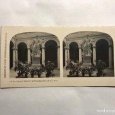 Fotografía antigua: MADRID. COLECCIÓN DE VISTAS ESTEREOSCOPÍCAS DE ESPAÑA. MINISTERIO DE ESTADO (ESTATUA DE COLÓN). Lote 157015602