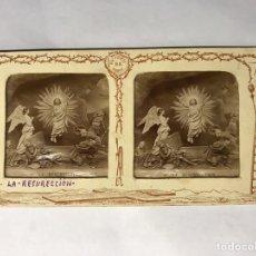 Fotografía antigua: SEMANA SANTA. LA VIDA DE JESÚS. ESTEREOSCOPÍCAS NO.23 LA RESURRECCIÓN (H.1890?). Lote 157019433