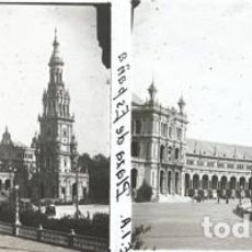 Fotografía antigua: SEVILLA CRISTAL POSITIVO ESTEREOSCOPICO. Lote 159329702