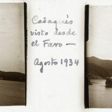Fotografía antigua: CADAQUÉS CRISTAL ESTEREOSCÓPICO POSITIVO. Lote 159953814