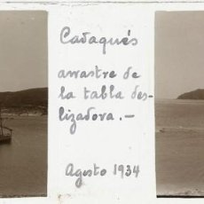 Fotografía antigua: CADAQUÉS CRISTAL ESTEREOSCÓPICO POSITIVO. Lote 159953930