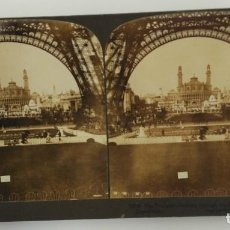 Fotografía antigua: FOTO ESTEREOSCOPICA - PARIS - EL TROCADERO - ALREDEDOR 1900. Lote 161399786